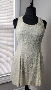 Vintage Hand- Beaded Wedding/Cocktail Dress